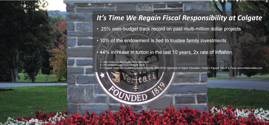 It's Time to restore Fiscal Responsibility at Colgate University