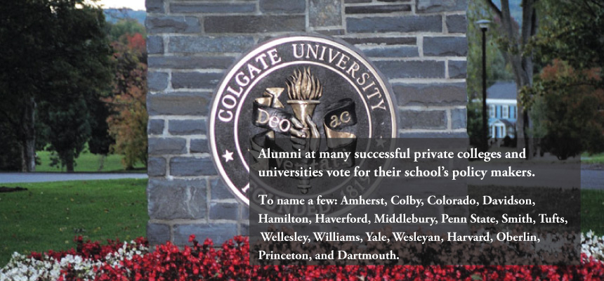 Alumni vote for their school's policy makers