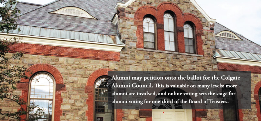Alumni may petition onto the ballot for Alumni Council